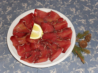 plate of bresaola