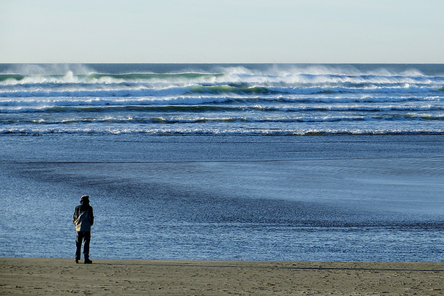 man standing on a beach-2