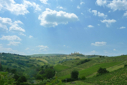 San Gimignano in distance-1
