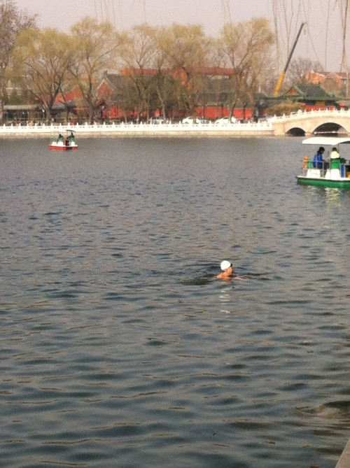 Qianhai lake swimmer 001