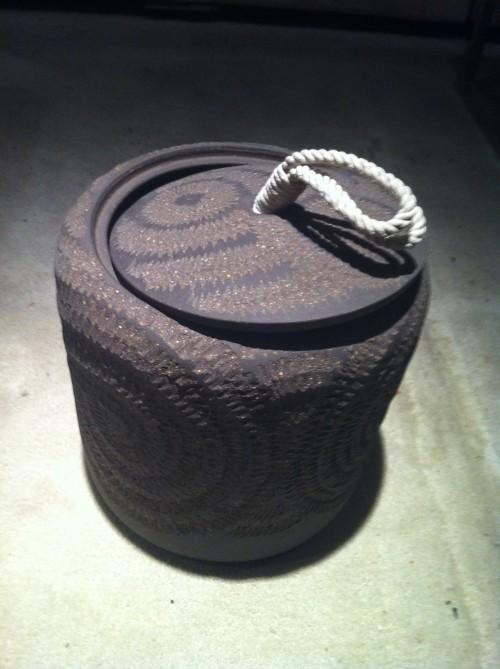 stoneware caddy