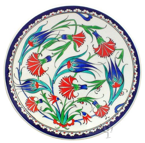 plate-2-with tulip and carnation