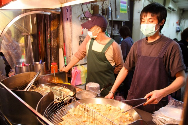 hawker selling stinky tofu