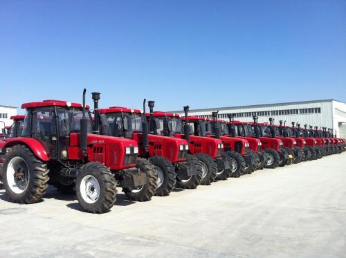tractors outside