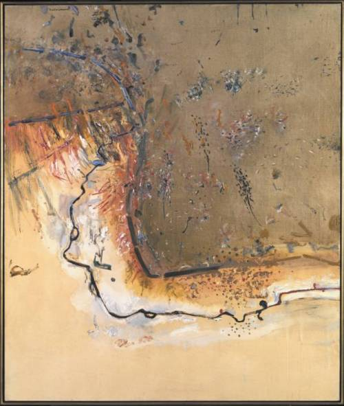 Dry Creek Bed, Werribee Gorge I 1977 by Fred Williams 1927-1982