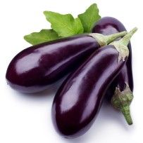Glossy, delicious tasting aubergines or patlican