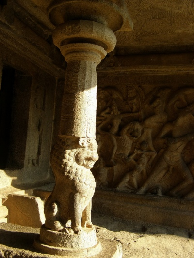 indian carved lion
