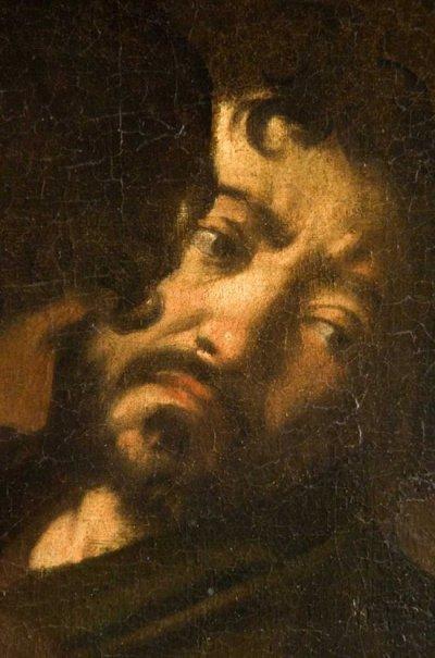 Caravaggio-Martyrdom of St Matthew-detail