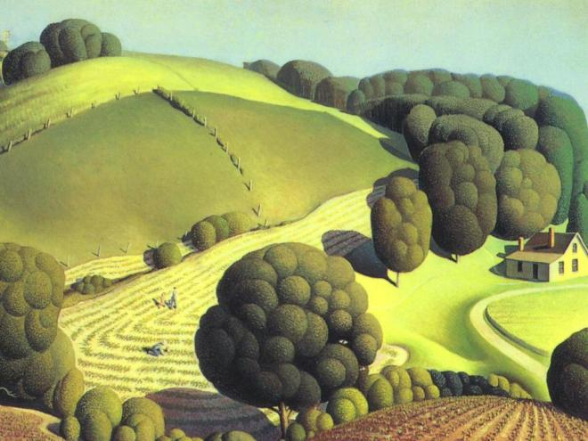 Grant Wood-young-corn-1931