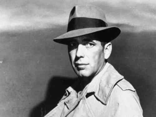 humphrey bogart with fedora