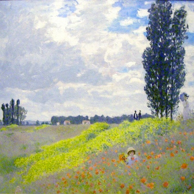 Monet-walk-in-the-meadows-at-argenteuil