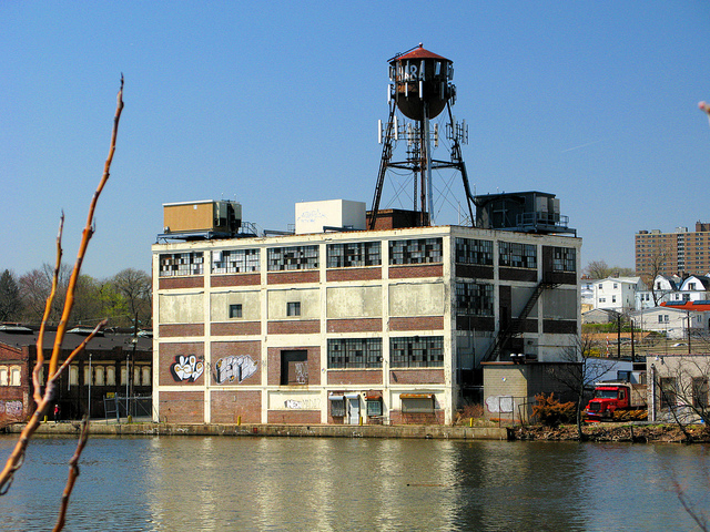 old industrial site passaic river