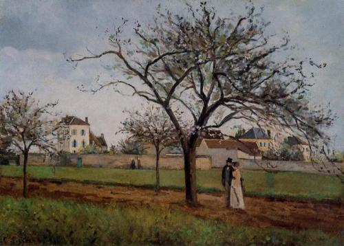 Pissaro-Pere galliens house at Pontoise-1866