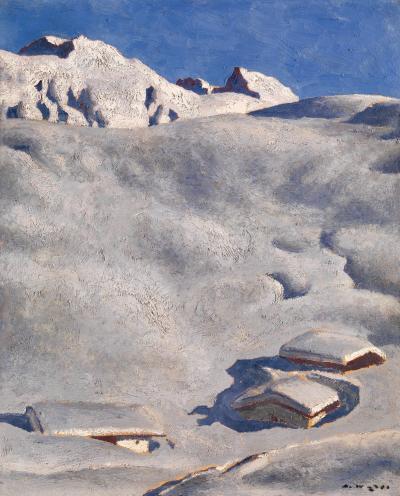 alfons walde-Almen im Schnee-1926