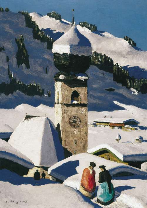 Alfons Walde-Auracher Kircherl-1927-30