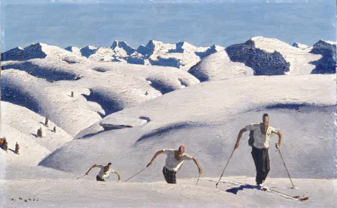alfons walde-Der Aufstieg der Schifahrer-1931