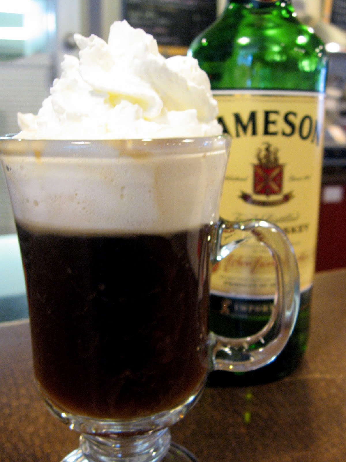 Irish coffee, which seems a sad ending for a good whiskey