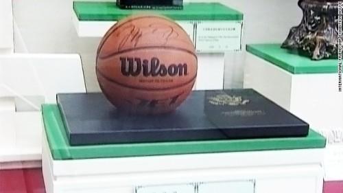 Kim present-basketball