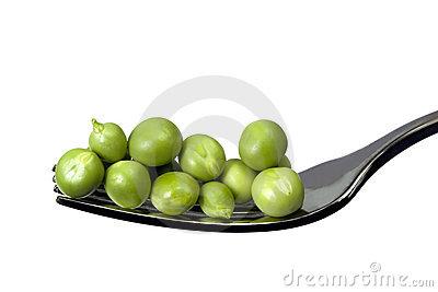 peas on a fork