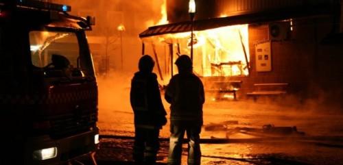 burning shop