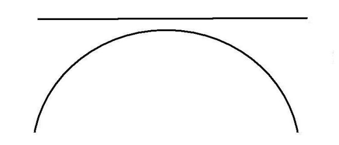 semicircle and line
