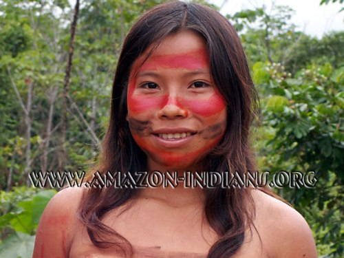 amerindian with painted face