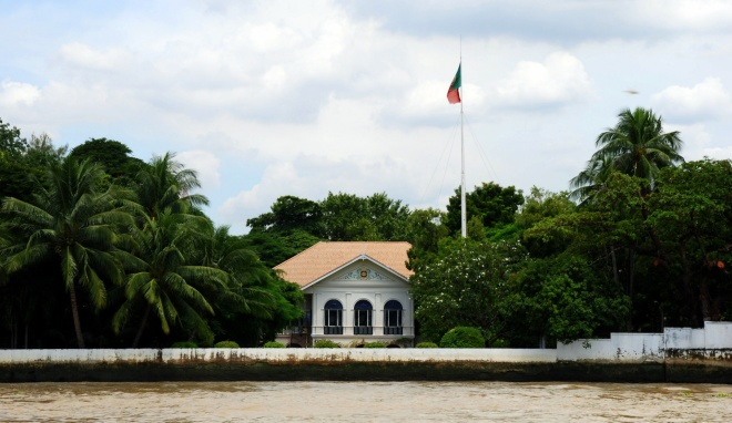 embassy from river