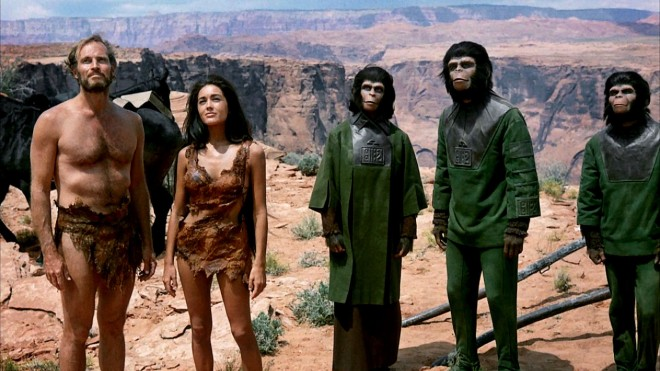 heston and the apes