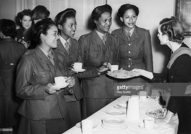 english lady serving west indians tea