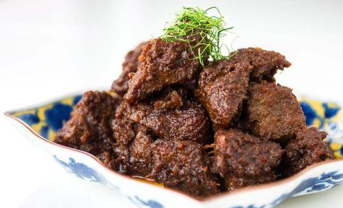 Indonesian beef-rendang