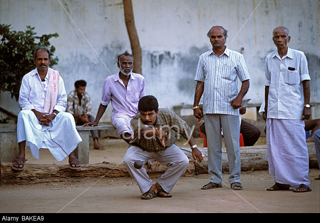 BAKEA9 India, Pondicherry Territory, Pondicherry, French consulate, Petanque game
