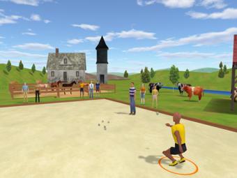 petanque video game screen
