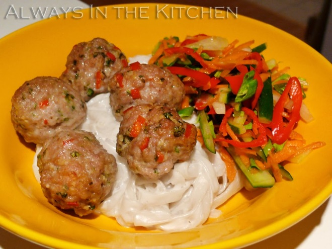 Vietnamese Lemongrass Pork Meatballs