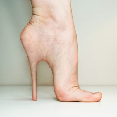 foot in high heel position