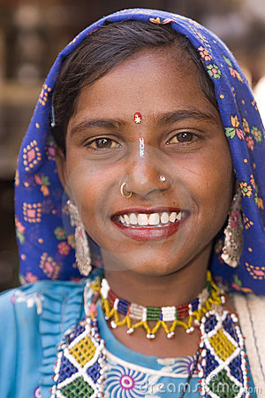 indian lady smiling